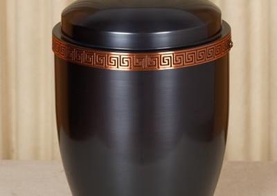Urna a vaso metallo e bronzo