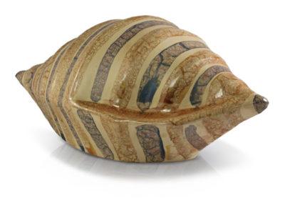 Urna in ceramica a conchiglia marmorizzata vari colori