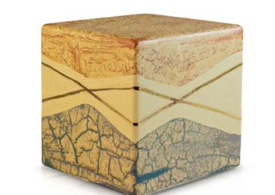 Urne in ceramica a cubo, marmorizzato, vari colori